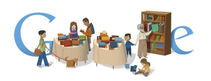 Google Logo: 2011 Hebrew Book Week in Israel