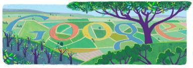 Google Logo: Tu Bishvat — New Year of the Trees