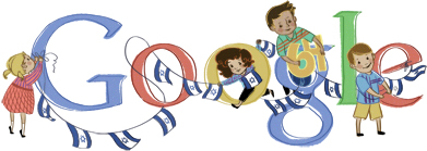 Google Logo: Yom Haʿatzmaut - Commemorates the declaration of the establishment of the State of Israel.