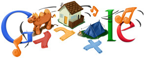 Google Logo: 80th anniversary of Naomi Shemer (1930 - 2004). Israeli  songwriter