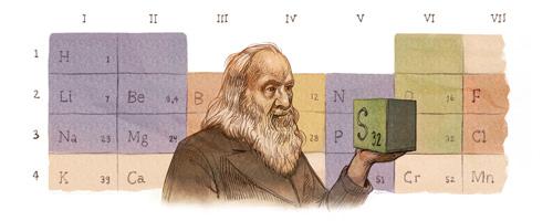 Dmitri Mendeleev's 182nd Birthday