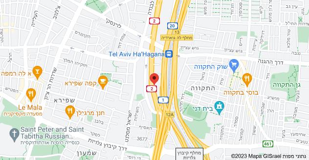 מפה של חיל השריון 88, תל אביב יפו שכפול מפתחות לרכב בתל אביב