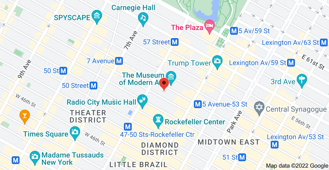 Map of 31 W 52nd St, New York, NY 10019, USA