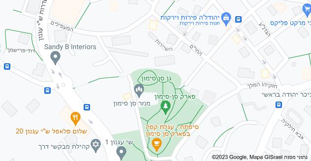 מפה של גן סן סימון, ירושלים